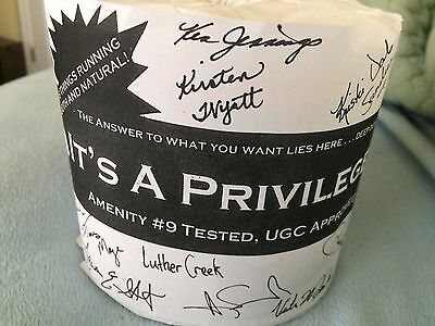 URINETOWN BROADWAY musical SHOW 2 ROLLS CAST PRESIGNED TOILET PAPER COLLECTOR'S