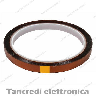 Kapton tape 10 mm nastro poliammide alte temperature 10mm 33m letto 3D printer
