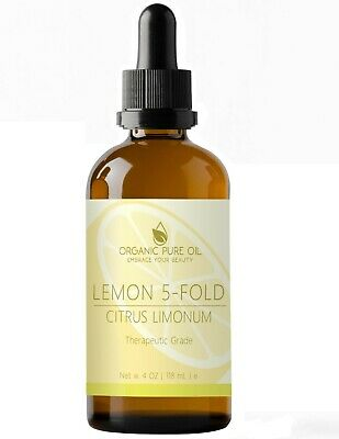 Lemon Essential Oil 100% Pure Organic Therapeutic Undiluted Steam Distilled 4 oz