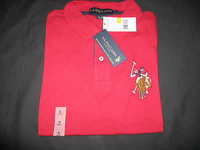 US Polo Assn Big Pony number 3 Short Sleeve Shirt.Red. Size Small NWT!!! $44.