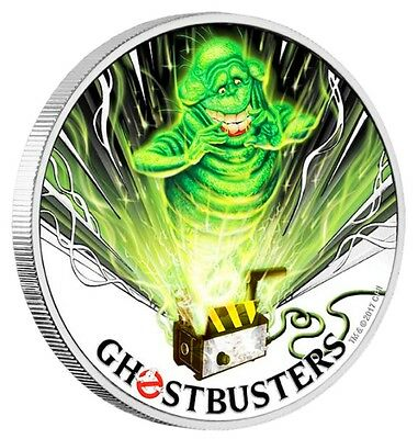 2017 Perth Mint Tuvalu GHOSTBUSTERS SLIMER 1 oz SIlver Proof $1 Coin