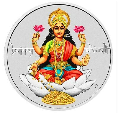 2017 Tuvalu Diwali Festival 1oz .9999 Silver $1 Coin Mint-Sold-Out