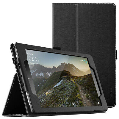 """Poetic® For Fire HD 8 Leather Case  [SlimFolio Series] Stand Cover"""" Black"""