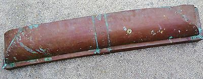 """VINTAGE HEARTH SMOKE CANOPY...COPPER...137 years old...48""""wide x 8""""high"""