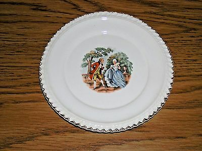 Harker Pottery Bread Plates Godey Victorian Colonial Couple