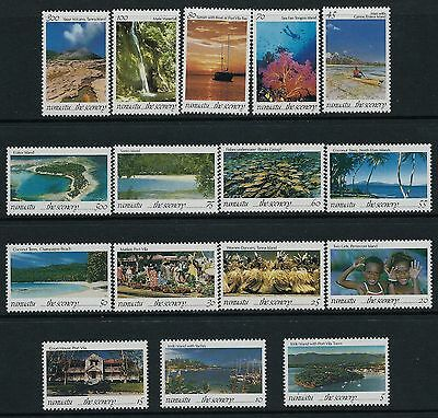 1993 Vanuatu The Scenery Definitives Complete Set Of 16 Fine Mint Mnh/muh
