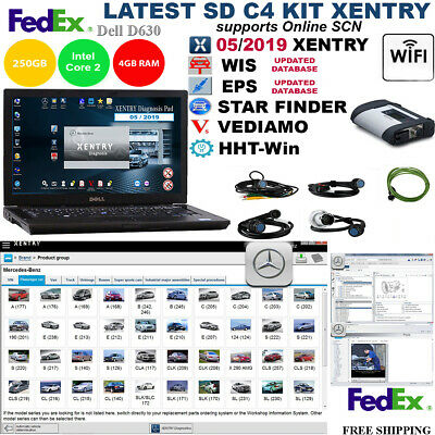 Latest KIT XENTRY 07/2017 + SD C4 + FAST DELL E6410 i7, 4GB DDR3, SSD  SET