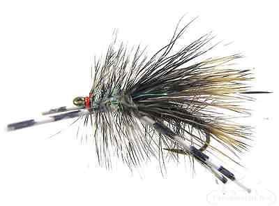 12 Fly Fishing Flies  Crystal Stimulator  Rubber Legs Collection