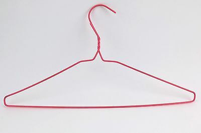Vintage Plastic Coated Wire Hanger Pink Yellow Clothes Shirt Dress Lot colored