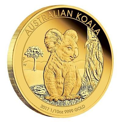 Australia 2017 Proof Koala $15 1/10oz .9999 Pure Gold coin 1500 mintage with OGP