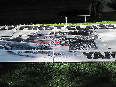 NOS Gugler Lithograph Billboard Poster 1979 Yamaha SRX Snowmobile 12 Sections