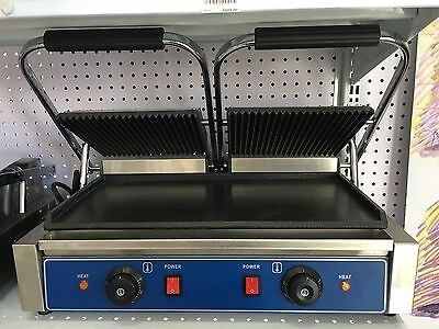 Double Electric Contact Grill / Sandwich Press