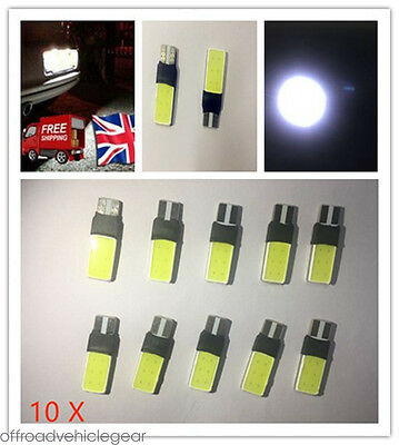 10x ERROR FREE CANBUS 501 SMD LED SIDELIGHT WHITE BULBS XENON T10 W5W 194 CREE