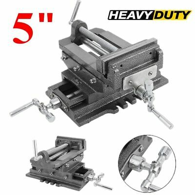 "New 5"" Cross Drill Press Vise X-Y Clamp Machine Slide Metal Milling 2 Way HD EGK"