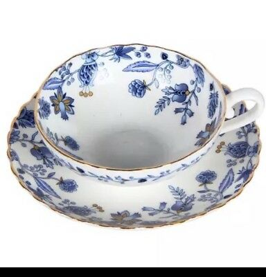 Breakfast Afternoon Tea Set/  Cup And Saucer/ Blue Flower Pattern