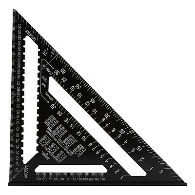 12Inch Aluminum Alloy Speed Square Ruler Triangle Angle Square Measuring Guide J