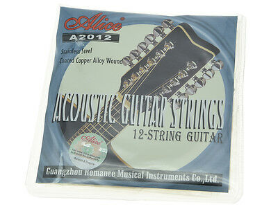 Alice 12-String Acoustic Folk Guitar Strings Stainless Steel Copper Wound