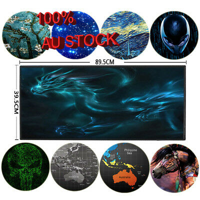 Large Gaming MOUSE PAD Desk Mat Extended Big Anti-slip Rubber Speed Mousepad AU
