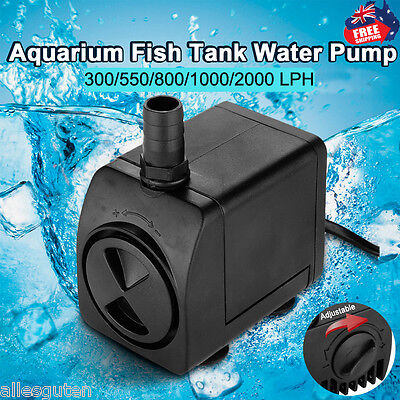 300-2000 LPH Submersible Aqua Aquarium Fountain Pond Marine Water Pump Fish Tank