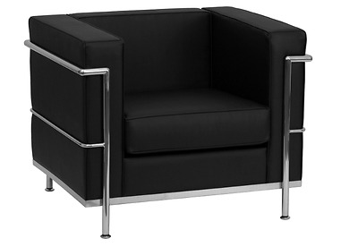 Fabulous Modern Black Leather Lobby Guest Chair Office Reception Machost Co Dining Chair Design Ideas Machostcouk