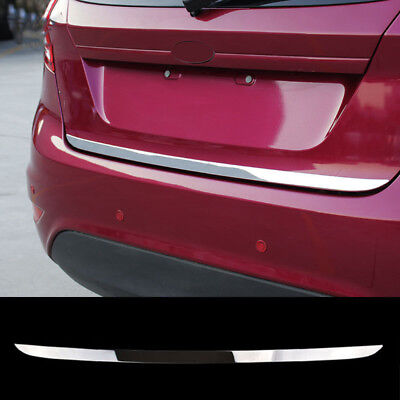 Chrome Rear Trunk Cover Trim FOR Ford Fiesta Door Tail Gate Sticker Moulding