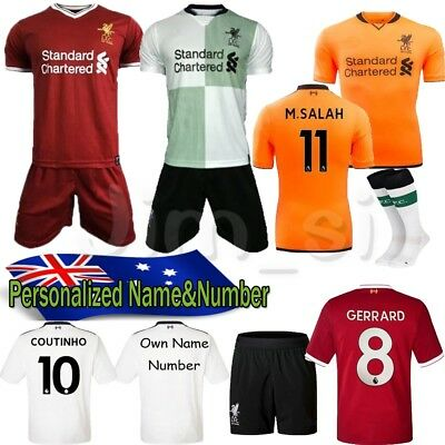 16-17-18 Football Set Soccer Jersey Short sleeve Kits kids Sportswear Suit+Socks