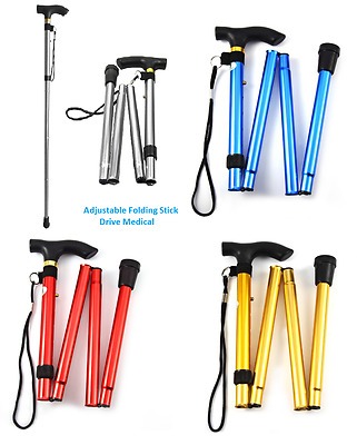Heavy Duty Medical Adjustable Folding Walking Stick Aluminium Light weight-4 col