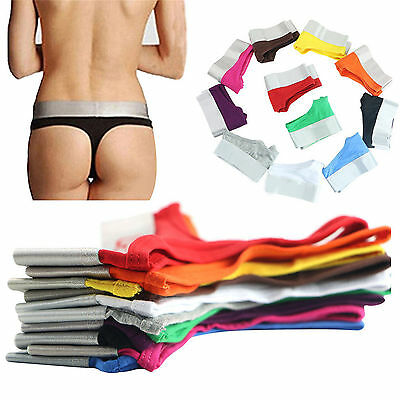 Fab New Women Knickers Cotton Thongs G-String Panties Briefs Lingerie Underwear