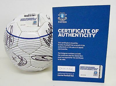 Everton Squad Signed Football - Official - Numbered COA from Everton FC - Boxed