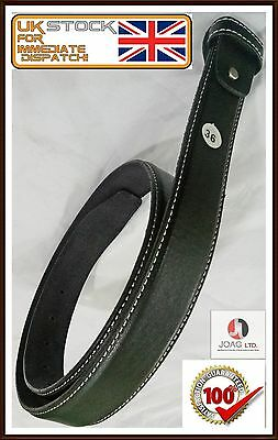 Men,s Genuine 100% Real Leather Belt Snap On Strap Without Buckle No wrinkles