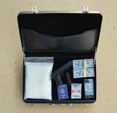1/6 scale miniature model gangster briefcase 12 inch diorama doll house
