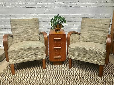 Pair of Art Deco Beige Armchairs #352