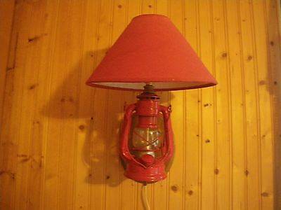 "Vintage""Winged Wheel""350 Oil Lamp Lantern Converted to Wall Sconce Quality Piece"
