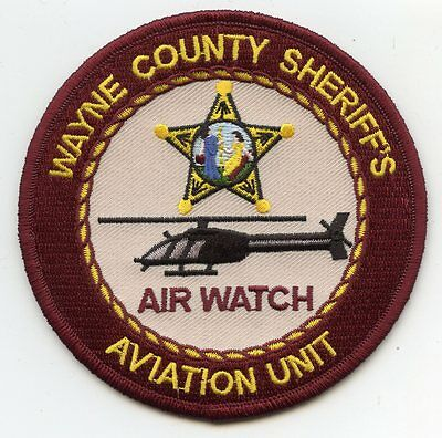 WAYNE COUNTY NORTH CAROLINA NC helicopter AVIATION SHERIFF POLICE PATCH