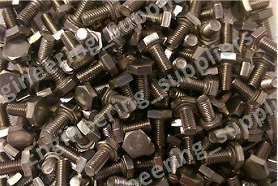 M2 M3 M4 M5 M6 Full Thread Stainless Hex Head Precision Screw Set Bolt 6 to 75mm