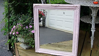 LARGE shabby chic paris pink frenchy mirror