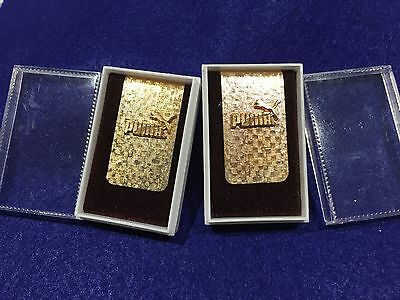 Lot of 2 Vintage Puma Sneakers Money Clips
