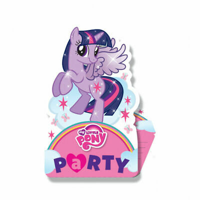 My Little Pony Stand Up Birthday Party Invitations & Envelope, Pack of 8 by Amsc