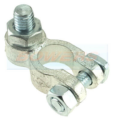 POSITIVE + BATTERY TERMINAL WITH 8mm M8 VERTICAL STUD LUG BOLT AND NUT FIXING