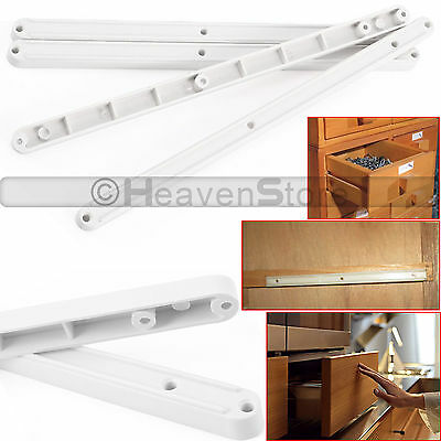 4 Pairs Drawer Runners 300Mm For Kitchen Bedroom Cabinet Draw White Runner Rail
