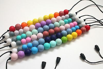 Silicone beads chewy teething nursing breastfeeding necklace gift ('FLORIDA')