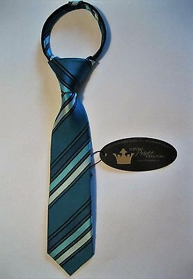 NEW Littlest Prince Couture Zipper Tie for Boys 9-24 Months, Teal