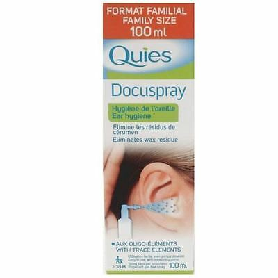 Quies Docuspray Ear Hygeine 100ml 1 2 3 6 12 Packs