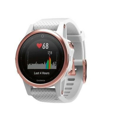 NEW Garmin Fenix 5S Sapphire GPS Heart Rate Watch Rose Gold from Rebel Sport