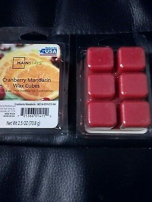 Mainstays CRANBERRY MANDARIN  Wax Melts -Glade - Airwick - Yankee Compatible -