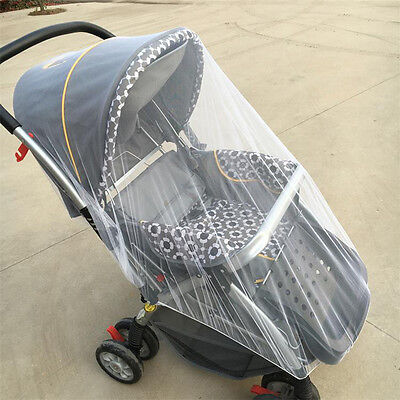 Whtie Stroller Pushchair Mosquito Insect Net Mesh Buggy Cover for Baby Infant US