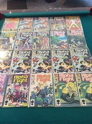 112 Alpha Flight Marvel Comics Over 100 From 1985-1998
