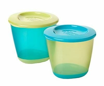 Tommee Tippee Explora Pop Up Weaning Pots Turquiose/Green 1 2 3 6 12 Packs