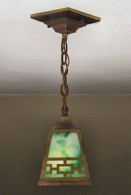 Antique Arts and Crafts Mission Light Fixture c.1910 - Professionally Restored