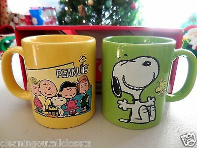 Peanuts Snoopy Charlie Brown Lucy Collectible Coffee Mug Set Tea Cup Christmas